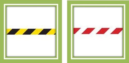 a7a99f3fd7658 ... um risco de choque, quedas ou passos em falso de pessoas ou ainda um  risco de queda de materiais deverá ser feita com a ajuda de faixas  preto amarelo ou ...