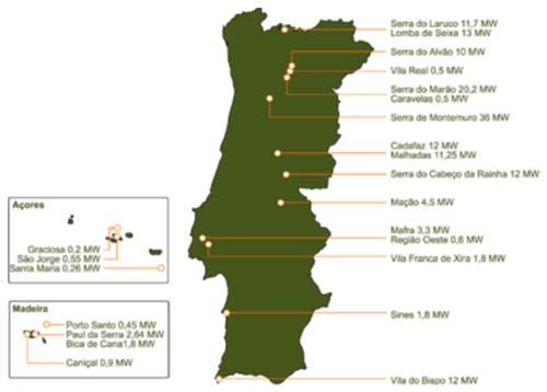 mapa das minas de portugal NotaPositiva   Energia Eólica mapa das minas de portugal