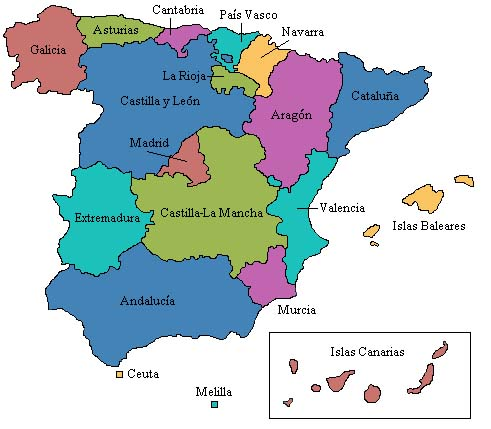 provincias espanha mapa Trabalho: Espanha provincias espanha mapa